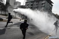 Demonstrators clash with Police in Santiago, Chile