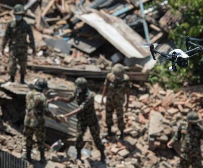 Post-quake renovations begin in Nepal; toll nears 7,700