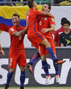 Copa America: Chile beat Colombia to set up final against Argentina