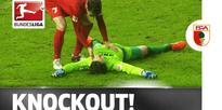 Ouch! Augsburg's Marwin Hitz Knocked Unconscious