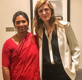 'Never seen a woman journalist braver than her'
