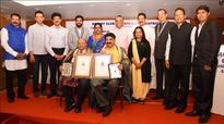 Mangaluru: Rotary Vandana awards conferred on Jayaram Bhat, Manohar Prasad
