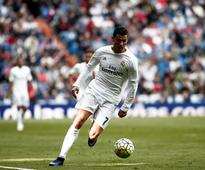 Real Madrid's Ronaldo trains ahead of Manchester City clash
