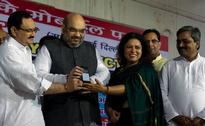Photos: Amit Shah, Meenakshi Lekhi launch app to connect Delhi MPs with voters