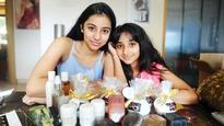 Two beauty obsessed school girls Aarna and Sunehra Salla have launched their own line of kid-friendly products