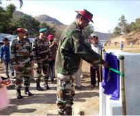 AR recovers arms and ammunition, inaugurates a Volleyball ground