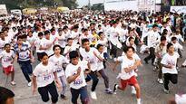 Over 3,000 students take part in Mumbra police marathon