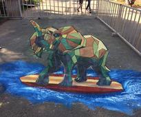 3D Street Art in Odisha capital Bhubaneswar