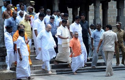 Amit Shah's temple visit shows up BJP, EPS ties for what it's worth