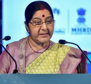 In China Sushma targets Pak, asks to identify states supporting terror