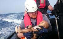 Another unknown, drowned refugee baby was pulled ashore off Italy