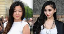 Jun Ji-hyun (L) at the Christian Dior show as part of Paris Fashion Week Haute-Couture Fall/Winter 2013-2014  and Angelababy at the Givenchy Menswear Spring/Summer 2017 show in Paris, France.