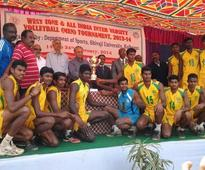 Hattrick for SRM University in Volleyball championship