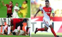 Radamel Falcao hospitalised after this brutal collision with goalie