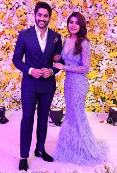 PIX: Naga Chaitanya-Samantha's grand reception