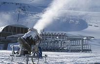 Snow guns firing on southern skifields