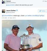 Golfer hits back at Twitter troll