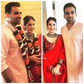Congratulations! Sagarika Ghatge - Zaheer Khan get hitched!
