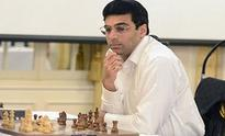 Viswanathan Anand held by Nikita Vituigov in second round