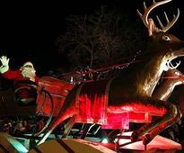 Santa lights up downtown