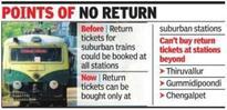 2-way ticket rule change irks suburban railway commuters