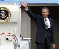 Obama leaves for Saudi; Modi wishes him a safe journey