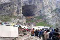 Amarnath yatra : 1,300 pilgrims leave for holy cave from base camps