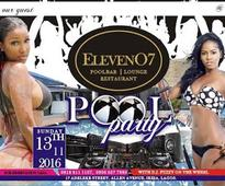 Ikeja set to come alive with the Eleven O7 Get Wild Official Pool Party this sunday!!!