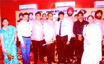 Lions Club felicitates Sahani, Bhandari, Jha