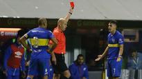 Boca Juniors' Cristian Pavon sent off in Copa Libertadores for taking off shirt