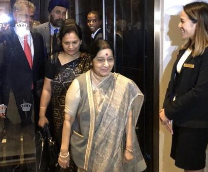 Swaraj in New York for UNGA, to also meet Tillerson