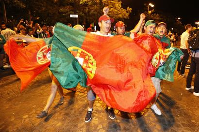 Jubilant Portugal fans hit the streets after Euro triumph