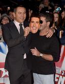 David Walliams wears Simon Cowell mask as judges pose on Britain's Got Talent red carpet
