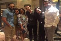 Shabir-Kanchi's night out with Riteish, Genelia, Arpita and Aayush
