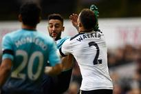 Swansea's Neil Taylor boots Kyle Walker in the FACE - and doesn't even get booked