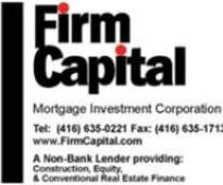 Firm Capital Mortgage Investment Corporation Announces Q1/2013 Results and Appoints New COO