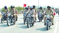 Warangal: Laddus for not wearing helmet