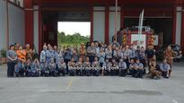 Scouts undergo programme for Fire Extinguisher badge
