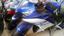 Yamaha R15 V3 spied at a dealer yard ahead of launch