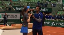 French Open 2016: Paes-Hingis beat Mirza-Dodig to complete a Mixed Doubles Career Grand Slam!