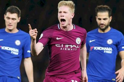 EPL: Manchester City stay ahead of United with win over champions Chelsea