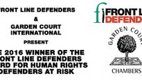 2016 Winner of the Front Line Defenders Award for Human Rights Defenders at Risk