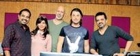 Shankar-Ehsaan-Loy jam with Swedish DJ Axwell