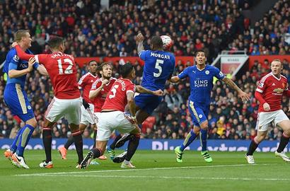 EPL PIX: Leicester draw at United; Ayew teaches Liverpool a lesson