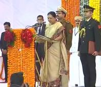 Anandiben Patel sworn in as Madhya Pradesh Governor