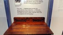 Museum displays desk with 'JFK' carving that didn't belong to the president