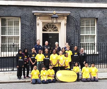 Pics: Broad plays in first cricket match at 10 Downing Street