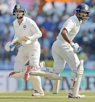 Centuries by Pujara, Vijay put India in commanding position