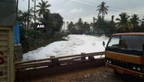 Bellandur Lake again spills toxic foam