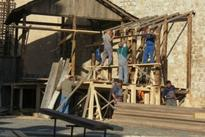 See film set going up for new Robin Hood movie starring Jamie Foxx and Jamie Dornan